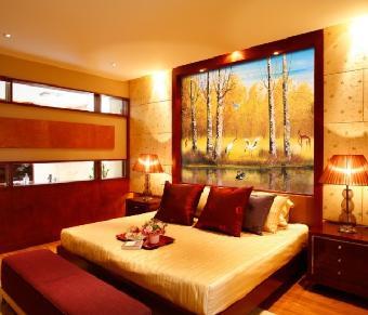 宾馆床头背景装饰画定做