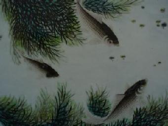 动物与多种花卉,瓜果组成吉祥画面