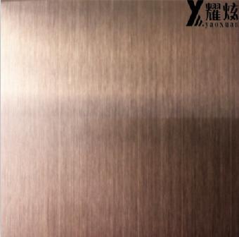 高品质拉丝古铜色不锈钢板