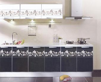 新中式厨房腰线贴图